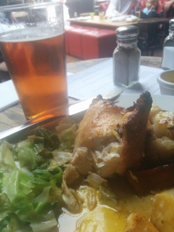 Chicken, vegetables, beer. Did someone say paradise?