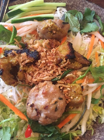 Bún Thịt Nướng Chargrilled lemongrass pork