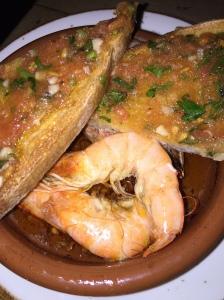Prawns, Chilli, Garlic & Tomato Bread