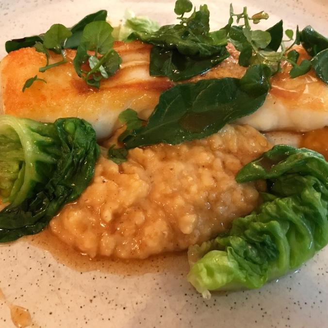Roast cod and dhal Salt Stratford